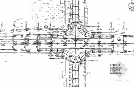 [河南]含BRT通道25.5m~32.5m宽变截面连续箱梁及钢箱梁高架桥快速路图纸778张