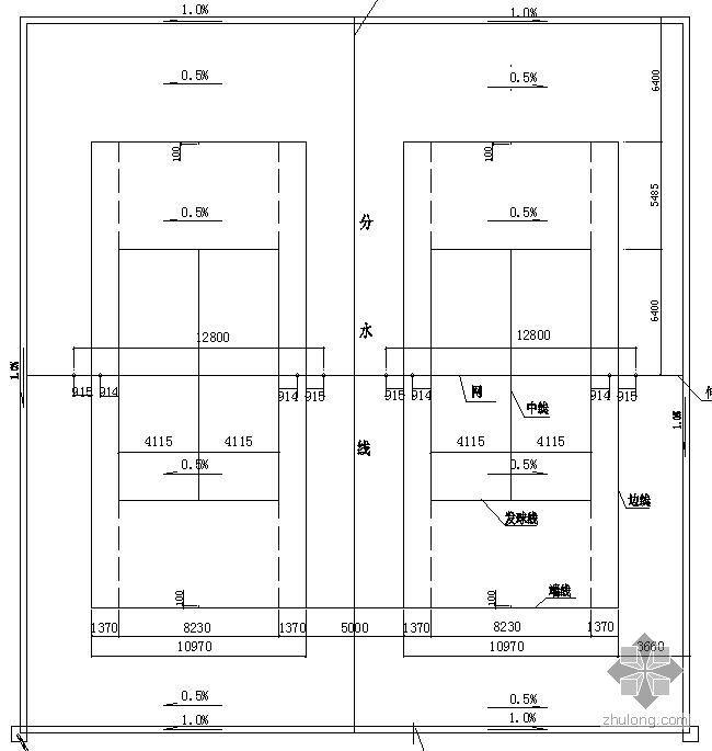 某广场网球场施工详图