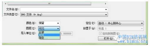 Revit導入CAD文件的圖層設置