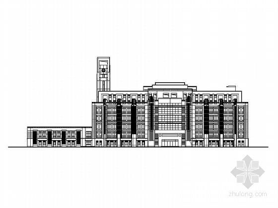 [上海]现代风格大学图书馆建筑施工图(甲级设计院含人防设计)-[上海]现代风格大学图书馆建筑施工图(甲级设计院 含人防设计)