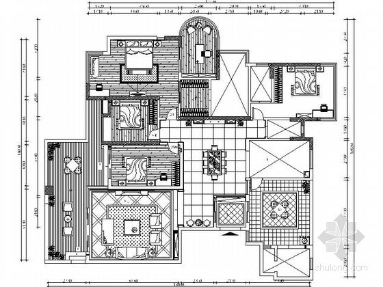[沈阳]度假生活区古典简欧五居室装修图(含效果)