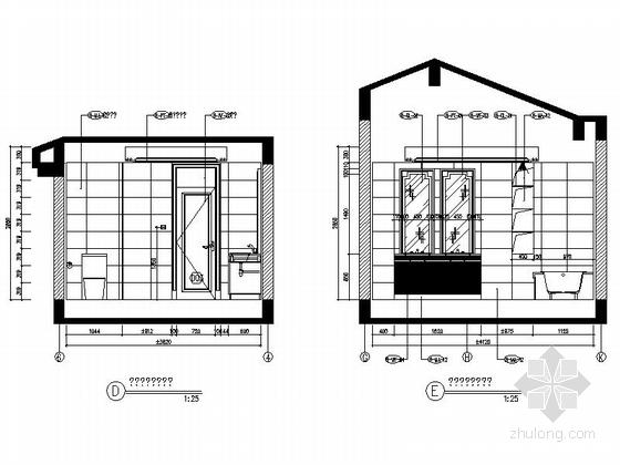 [成都]经典豪华三层别墅样板间室内装修图(含方案文本) 立面