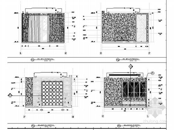 [浙江]现代风格三层别墅室内装修施工图客卧立面图