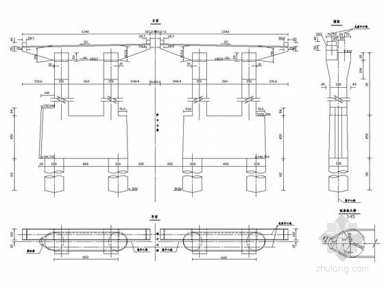 跨江特大桥桥墩设计施工图