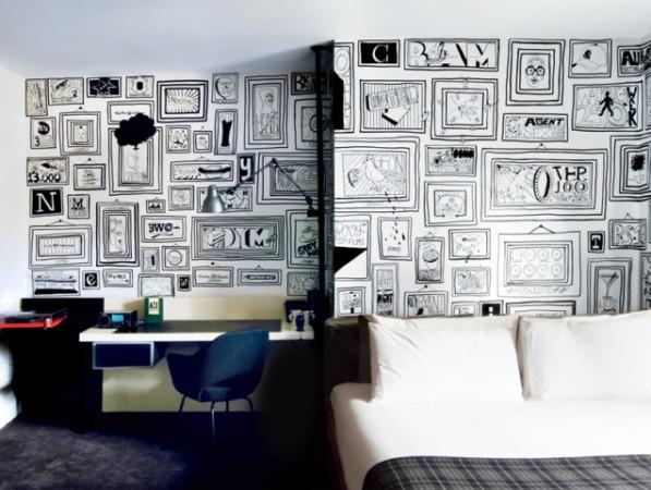 拒绝平庸,有什么墙纸可以比得上手绘的个性涂鸦墙呢?_1
