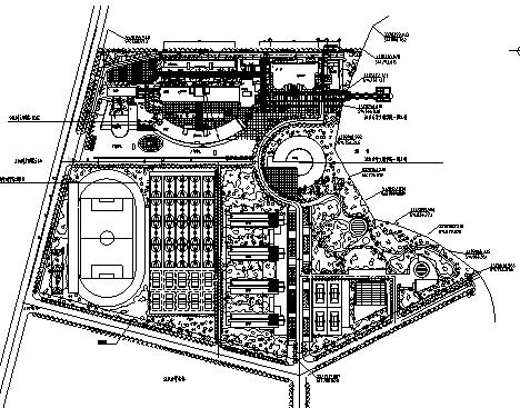 韦德娱乐1946老虎机_40套大学校园规划总平面图CAD方案图纸_7