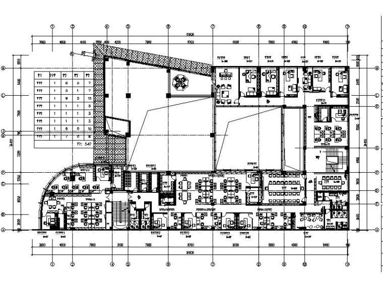 [珠海]某国际商务服务基地销售中心办公区设计施工图(含效果图)