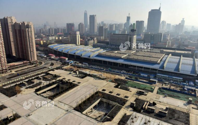济南火车站北广场主体工程基本完工