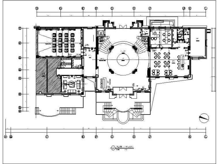 [大连]高端休闲售楼处会所设计施工图(含实景图)