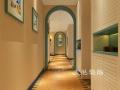 瀚宇天悦142平四室装修,多彩年轻地中海风