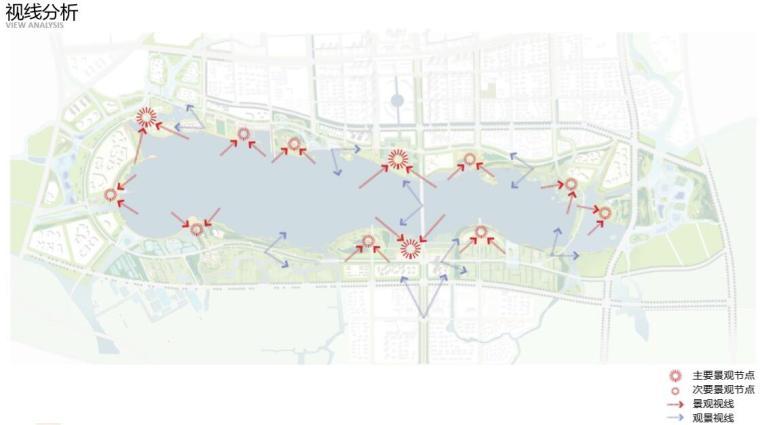 钱资湖景观概念规划设计方案文本-视线分析