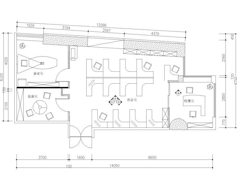 广州建技机械设备有限公司办公室装修设计竣工图