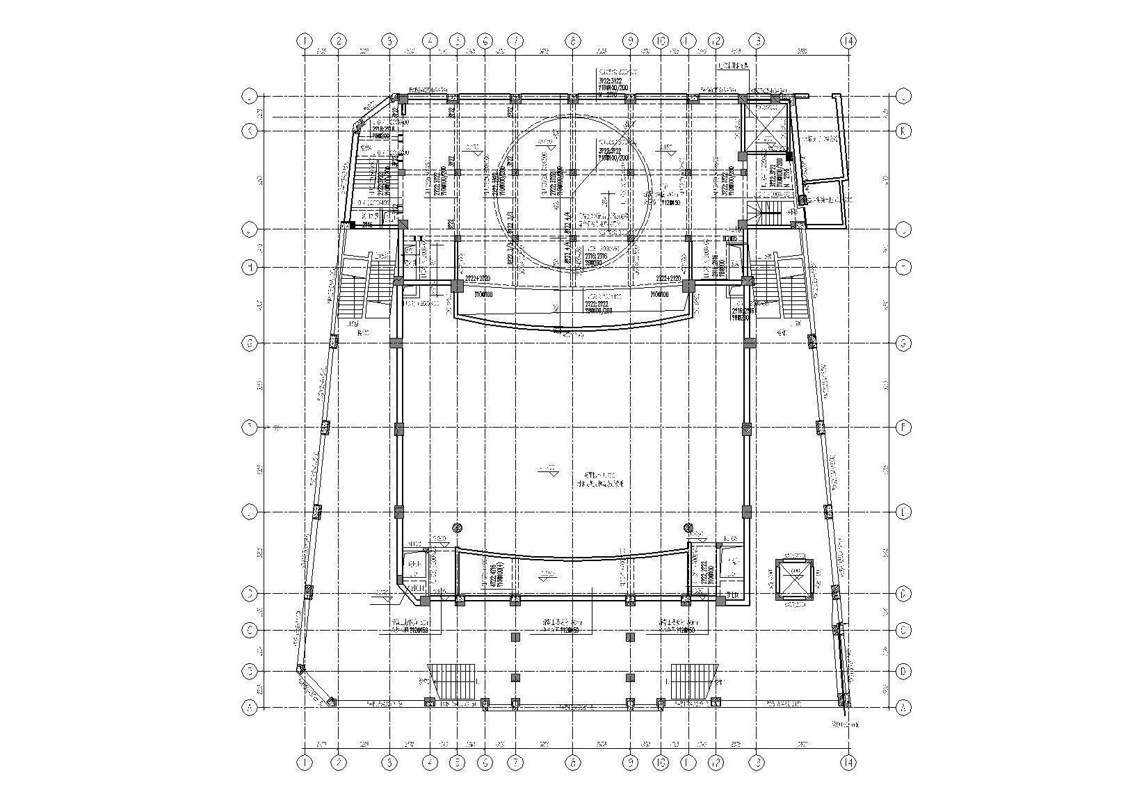 [上海]中国大戏院框架结构改造加固全套施工图(建筑结构水暖电)