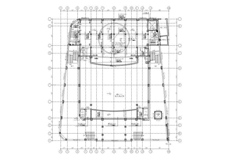某戏院框架结构改造加固全套施工图5大专业