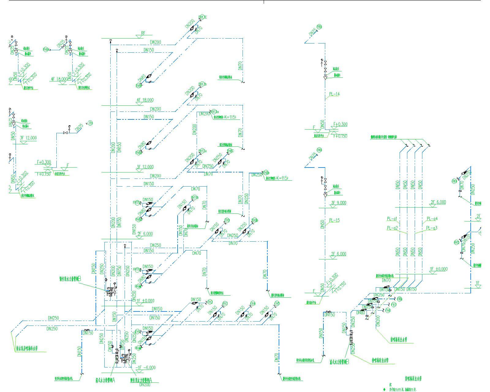 [安徽]古生物化石馆给排水全套图纸(给水系统、排水系统、消防系统)_5