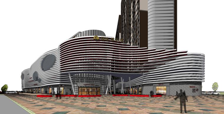 [陕西]绿地高层住宅及商业综合体建筑设计文本(含两套方案)