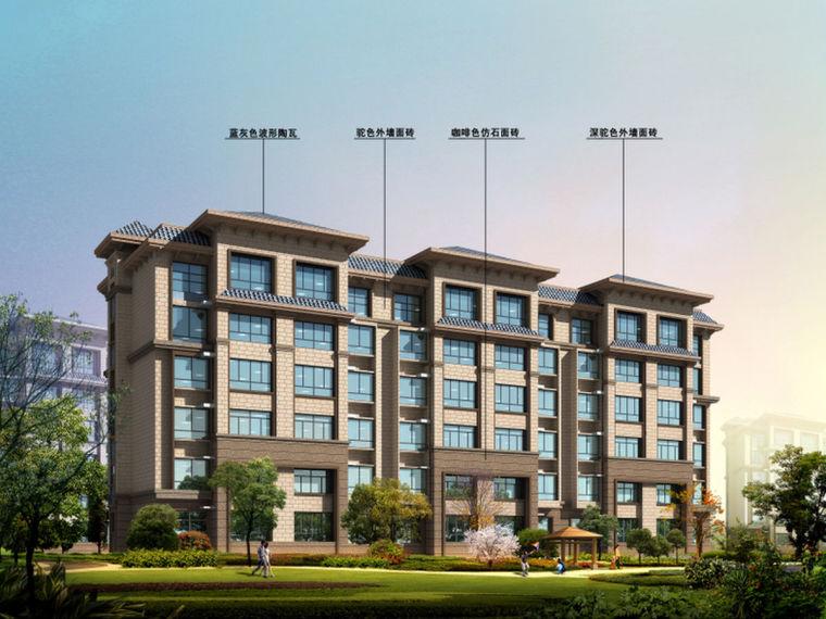 银川多层框架结构商住楼CAD图(建筑结构暖通电气户型图)