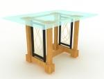 玻璃台面桌3D模型下载