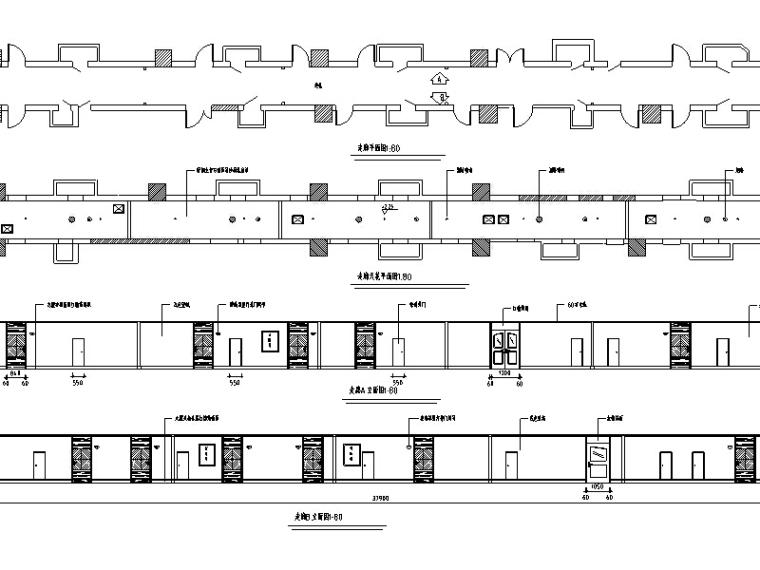 高层宾馆平面施工图CAD