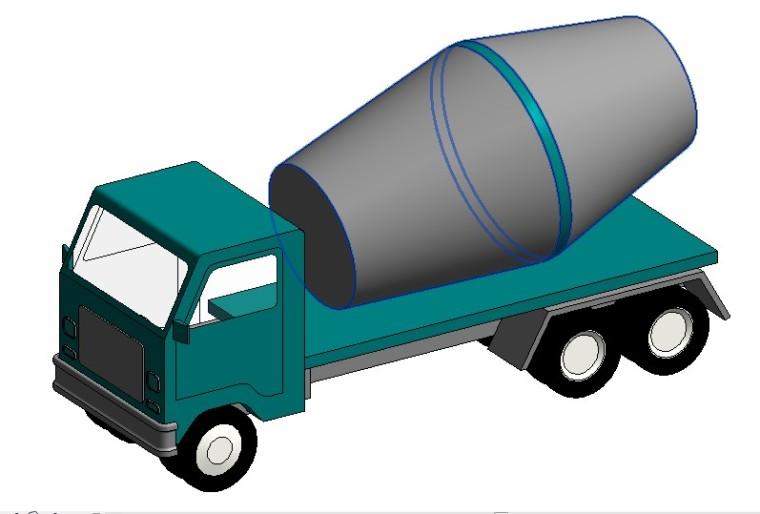 revit族-混凝土罐车