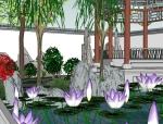 【SU模型】超棒的古建古典园林模型(小)