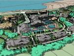休闲娱乐会所建筑模型设计(地形+环境)