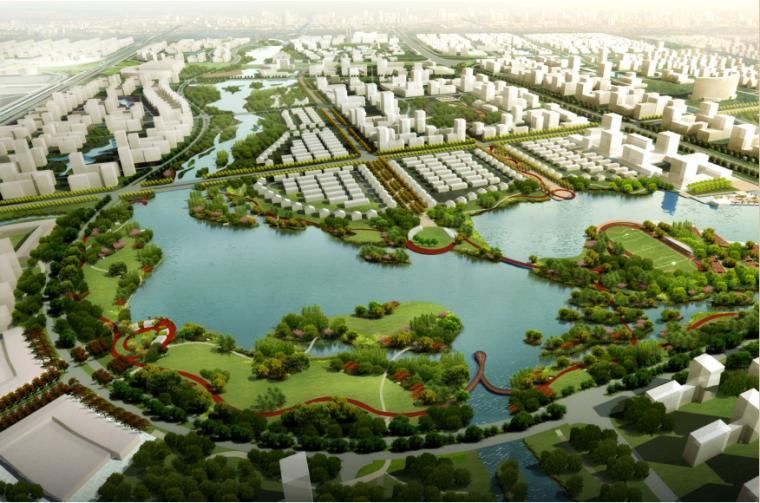 [江苏]南通市经济技术开发区核心区域景观规划(PDF+117页)-整体鸟瞰