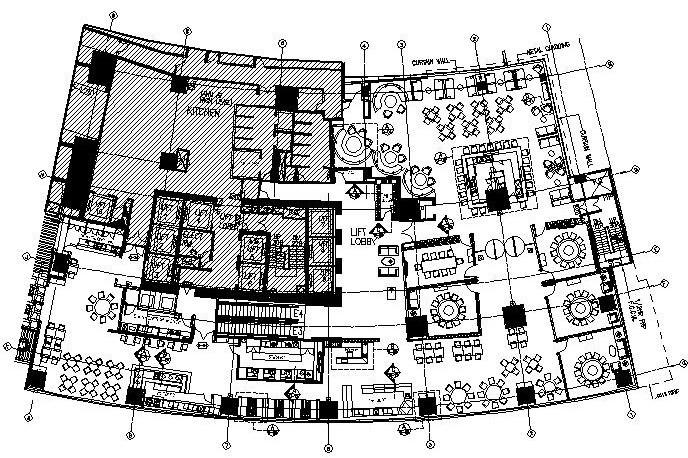 [香港]梁志天——香港中文大学茶餐厅全套施工图设计(附设计草图)