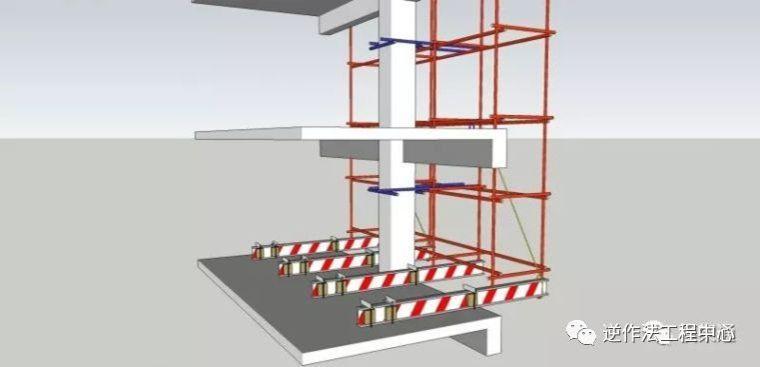 高层建筑采用这种悬挑架,可节约55%的工字钢用量