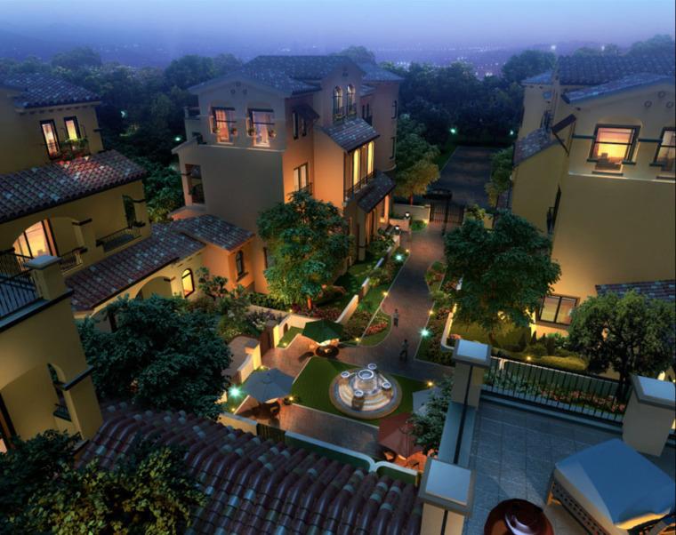 (原创)别墅庭院设计案例效果图