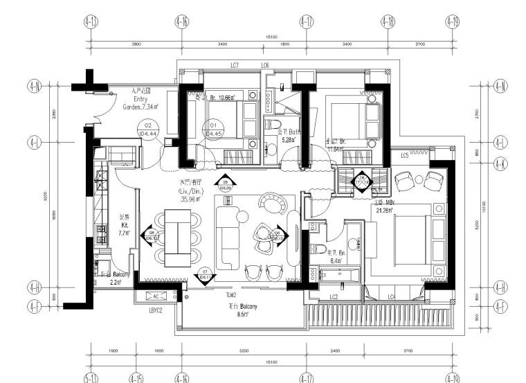 [深圳]华润大涌116平三居室样板间施工图+设计方案+软装方案+物料书+官方摄影
