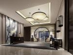 中式酒店前厅3D模型下载