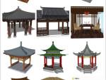 自己平时收集的一些su凉亭模型素材