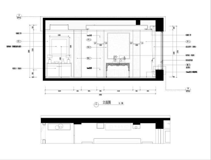 某中式建欧别墅室内装修设计施工图及效果图_6