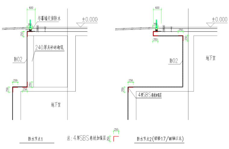 知名体育中心工程地下室顶板防水施工方案