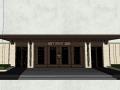 西山天璟居住区小区入口大门景观SU模型设计(新中式风格)