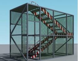 市政工程施工现场安全文明标准化管理图集(PPT,149页)-组合拼装式爬梯示意图