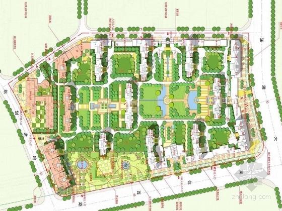 [济南]尊贵大气住宅样板区景观规划设计方案