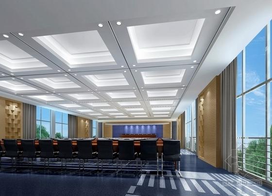 [江苏]省级产品质量检验事业单位现代检验楼装修施工图(含效果)大会议室效果图