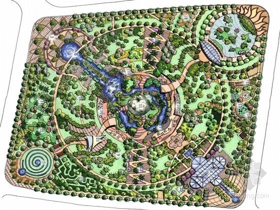 [上海]自然山水式都市开放性公共绿地景观规划设计方案