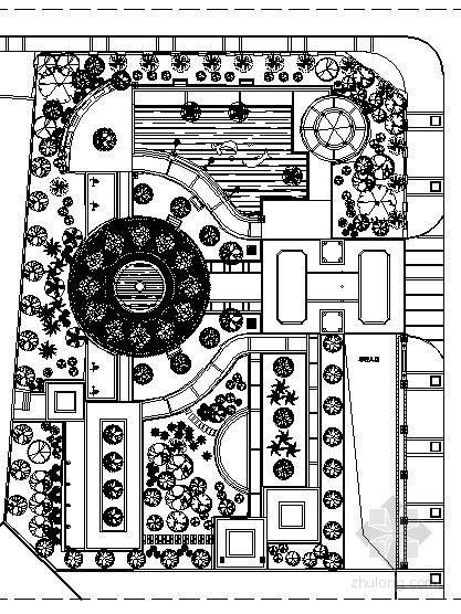 [贵州]某小区中庭景观工程施工图(含效果图)
