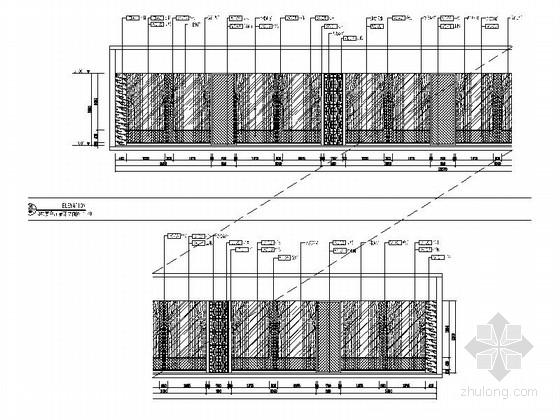 [河南]家电制造业连锁集团行政办公楼3层宴会厅及包间设计装修图(含方案手册照片)宴会厅立面图