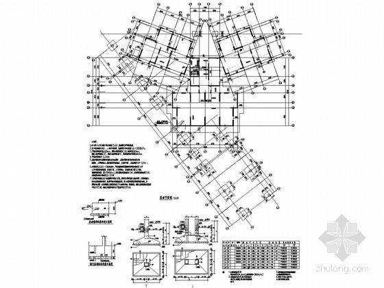 34层(带阁楼)剪力墙结构住宅楼结构施工图