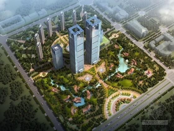 [黑龙江]城市绿肺金融产业园景观优化提升设计方案(含三个方案)
