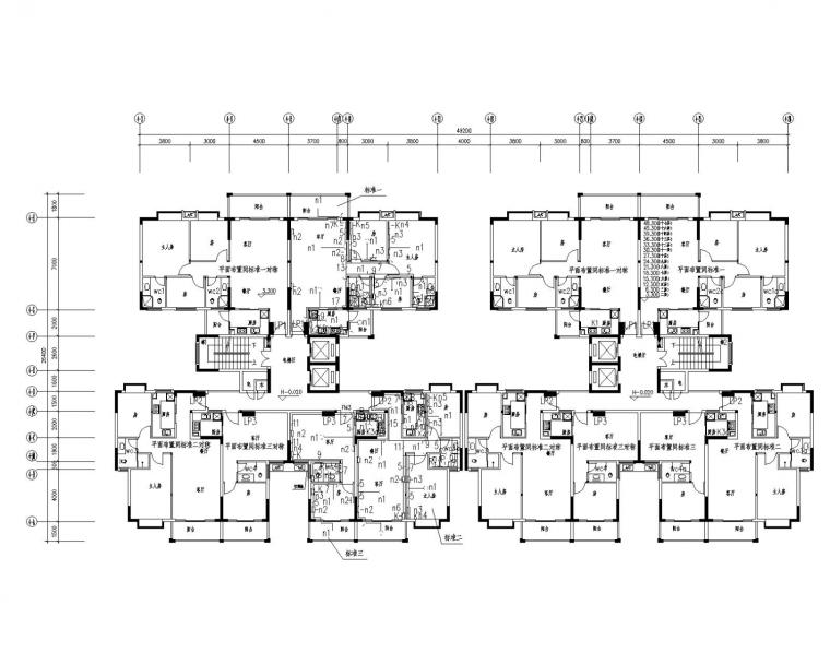 [广东]17层高层住宅小区4栋电气施工图