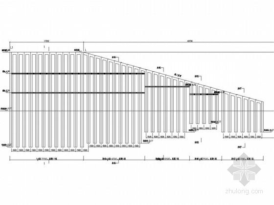 [陕西]13米深基坑土钉墙结合桩锚支护施工图