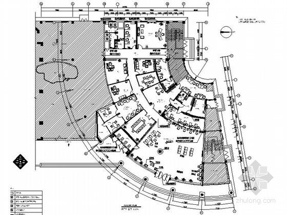 [原创]现代农商村镇商业银行室内装修施工图