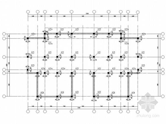 3层框架结构住宅结构施工图(坡屋面)