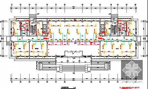 [北京]教育实习基地项目建设工程施工招标文件及投标文件(附全套图纸报价施组)-一层空调采暖通风平面图