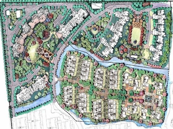 [江苏]现代别墅庭院二三四期景观设计方案(含50张清晰效果图)